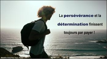 Persévérance et détermination
